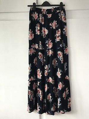 Primark floral tiered maxi skirt size 10