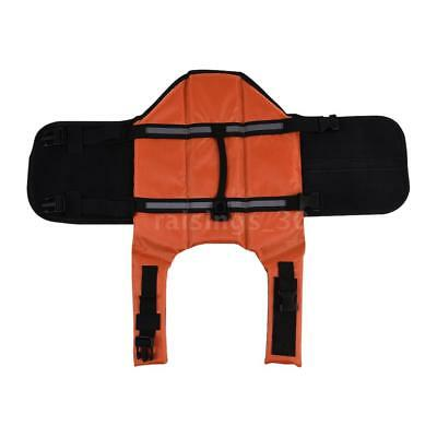Pets Dog Life Jacket Buoyant Secure Float Vest Outdoor Water Swimming X2R6