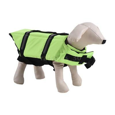 Pets Dog Life Jacket Buoyant Secure Float Vest Outdoor Water Swimming A7T4
