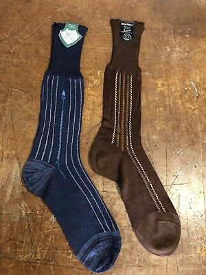 Vintage 1940's Men's Socks New Old Stock With Paper Tags