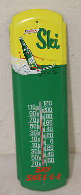 Ski Soda Thermometer Sign Vintage Style Country Store Advertising Man Cave