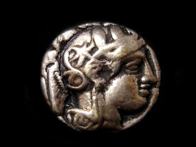 BEAUTIFUL GREEK COIN BRASS SILVER PLATED BROOCH, from Middle 20th. CENTURY!!!