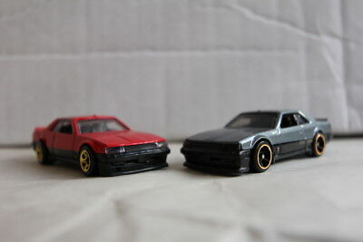 2018 Hot Wheels '82 Nissan Skyline R30 red, gray x2 lot/pack LOOSE MINT