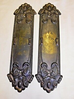 Antique Pressed Metal Matching Push Plates