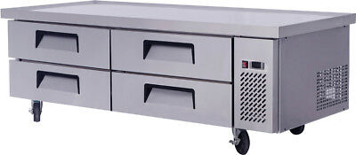 "New  Mgf8454 76"" Extended Top Stainless Steel Refrigerator Chef Base Work Table"