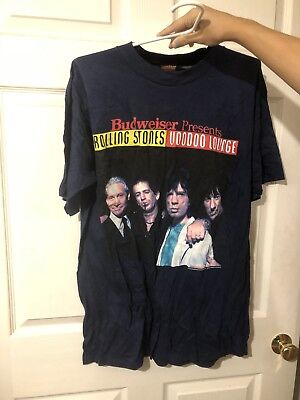 Vintage 1994 The Rolling Stones Voodoo Lounge Budweiser Tour 94/95 T Shirt XL