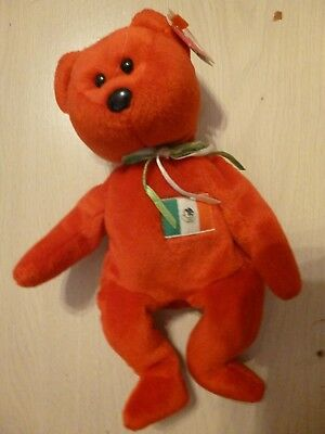 Ty Beanie Babies 1999 Osito Red Mexico Bear