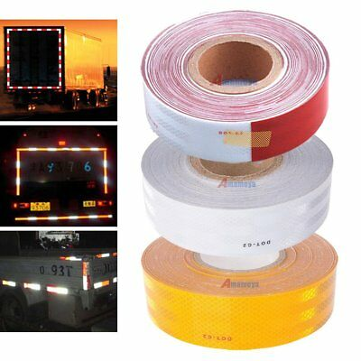 "2""x150' DOT-C2 Reflective Safety Warning Sign Conspicuity Tape Truck Trailer WX"