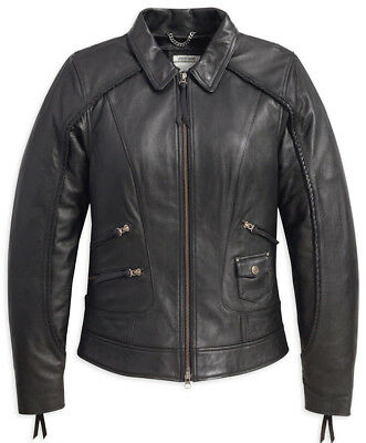 Women's Harley-Davidson Heritage 98064 Black Leather Jacket