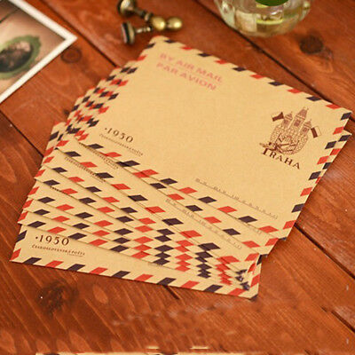 10pcs Vintage Kraft Paper Envelope Letter Invitation Postcards Paper Letter Card