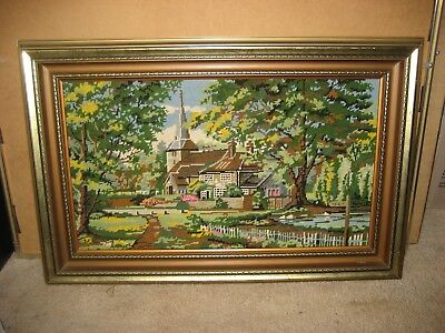 Large Vintage Tapestry In Vintage Ornate Frame