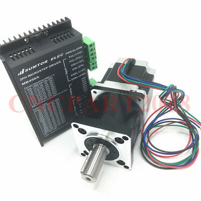 Fast ship 5:1 Nema23 Planetary stepper motor 15Nm L112mm 2ph &Driver 24~50V 4.2A