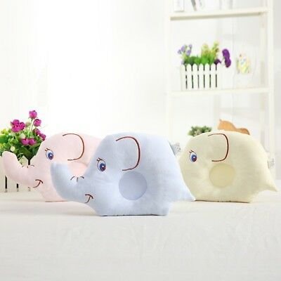 Newborn Baby Infant Elephants Pillow Prevent Flat Head Anti Roll Support Safe