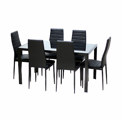 Admirable 7Pcs Dining Table Set Kitchen Furniture Rectangle Table With Lamtechconsult Wood Chair Design Ideas Lamtechconsultcom