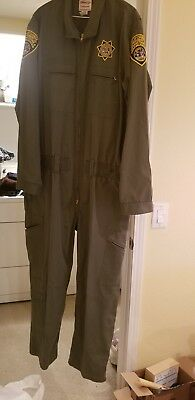 2 CDCR Corrections Transcon Elbeco Jumpsuits 52 W/ patches.