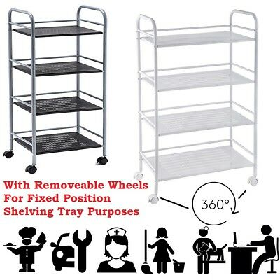 Multi-purpose Service Trolley Utility Cart Cleaner Chef Vet Home Office DIY Jobs