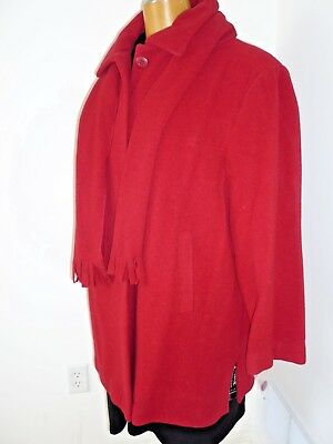 NWT, $275, wool fully lined red coat/jacket size 3X/24W by Nuage