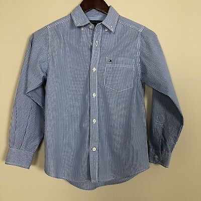 Boy's Tommy Hilfiger Striped Button Down Size Small