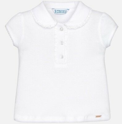 New Mayoral Baby Short Sleeve Polo with frill,Age 6 Months (114)