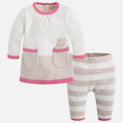 Mayoral Newborn Baby girl set of knit jumper and trousers 2819 RRP £31