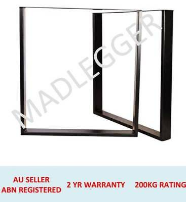 2x FRAME METAL TABLE LEGS HEIGHT 400MM, 457MM, 600MM, 710MM