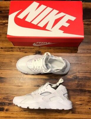 check out 73d4a b6ab4 Nike Huarache run all white pure platinum kids sizes brand new with box
