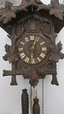 "antique black forest cuckoo clock - size 14"" high  12"" wide"