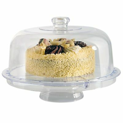 Modern Design 3 IN 1 Multi Functional Cake Stand & Dome Plastic Cover Salad Bowl