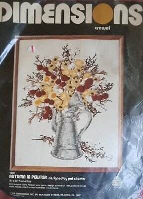 CREWEL Autumn In Pewter Dimensions Kit