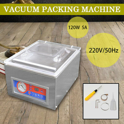 220V Commercial Vacuum Packing Sealing Machine Sealer 120W Home Kitchen Food