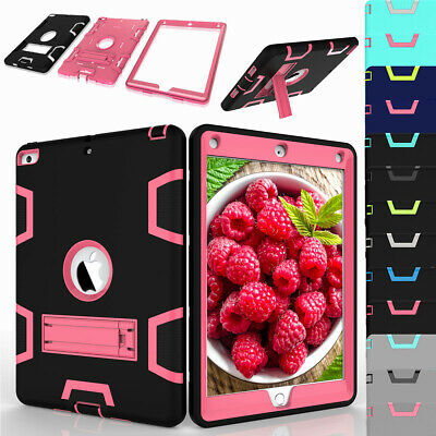 Shock-proof Hybrid Rugged Stand Case Cover For Apple iPad 9.7 Inch 2018 6th Gen