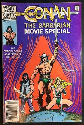 Marvel Comics Conan The Barbarian Movie Special #1 Oct 1982 In Bag With Board