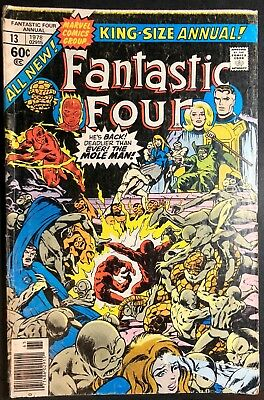 Marvel Comics Fantastic Four 1978 King SIze Annual #13 In Bag With Board