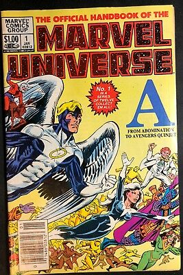 Marvel Comics Marvel Universe 1982 Volume #1 Issue #1 In Bag with Board