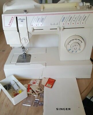 Singer Melodie 40 Sewing Machine With Lots Of Feet Semi Industrial