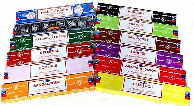 卐 12 Variety Pack Satya Nag Champa Genuine Incense Sticks Joss 15g Mixed Scents
