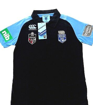2018 CCC TEAM New South Wales NSW State Of Origin Blues NRL Media Polo Shirt NWT