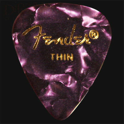 Fender Purple Moto Thin Guitar Picks / Plectrums - Choice Of Quantities
