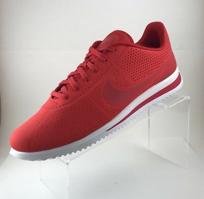 premium selection dd074 ee9f9 Nike Mens Cortez Ultra Moire Running Shoes Red white 845013-601 Size 12  Sneakers