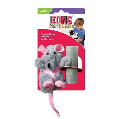 Kong Catnip Cat Kitten Toy Rat Grey Pink Refillable Washable Play