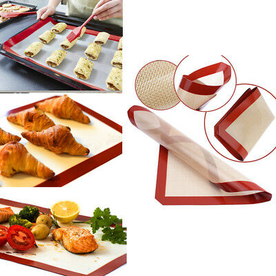 Silicone Kitchen Bakeware Baking Sheet Mat Dough Rolling Pastry Clay Pad Liner