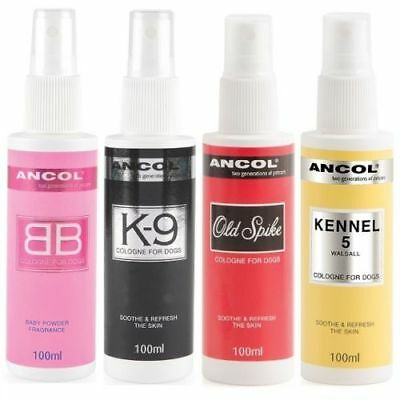 Ancol Dog Puppy Perfume Cologne Spray BB Old Spike Kennel 5 K9 SAMEDAY DISPATCH