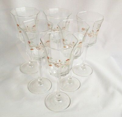 Set of 6 Eternal Beau Wine Glasses - Johnson Brothers