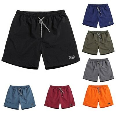 Men's Comfy Shorts Baggy Gym Sport Jogger Sweat Beach Casual Pants Summer Hot AU