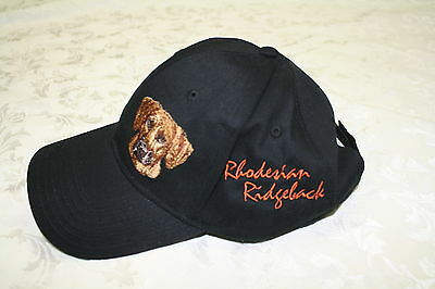 Rhodesian Ridgeback  Dog Embroidered On a Black Structured Hat + Free Gift