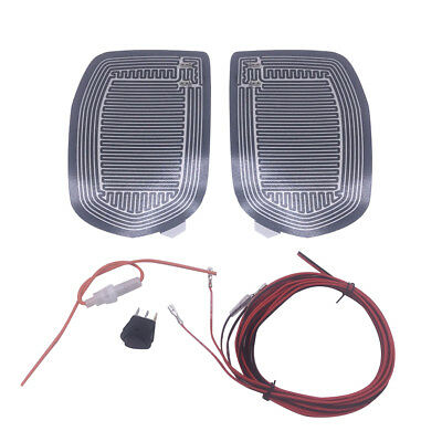 Set Quick Warm Car Side Mirror Glass Heater Heated Defogger Pad Mat Universal