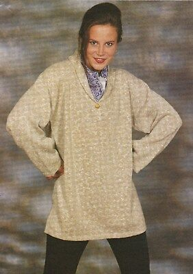 Tunic With Collar Pattern For Machine Knitting