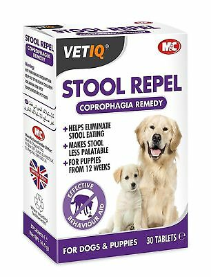 VetIQ Stool Repel 30 Tabs - Coprophagia Aid, Behaviour Aid Stops Poo Eating Dogs