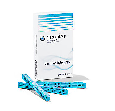 Genuine BMW Car Care Natural Air Car Freshener Raindrops Refill Kit 83122285679