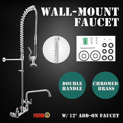 Commercial Kitchen Restaurant Pre-Rinse Faucet Brass/Copper Chrome Finish  Tap